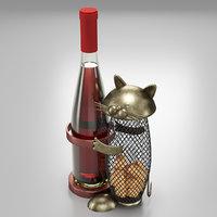 wine holder cat 3D model