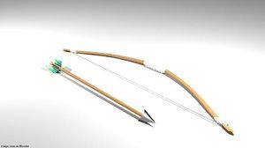 arrow bow selfbow model