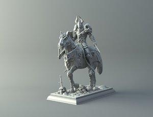 3D warrior horse - kit