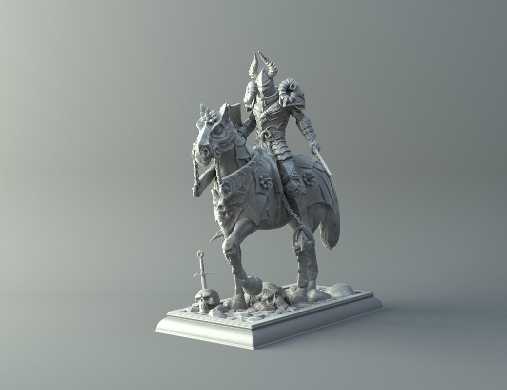 3D warrior horse - kit