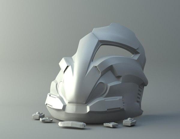 3D swtor arcann mask print model