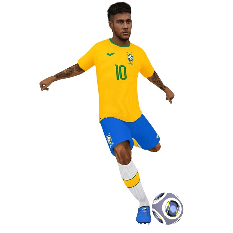 3D rigged neymar 2018