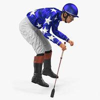 jockey riding horse 3D model