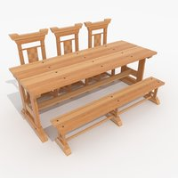 medieval dining table model
