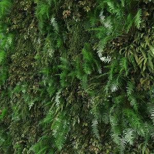 vertical green wall 3D model