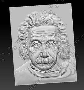 3D bas-relief einstein