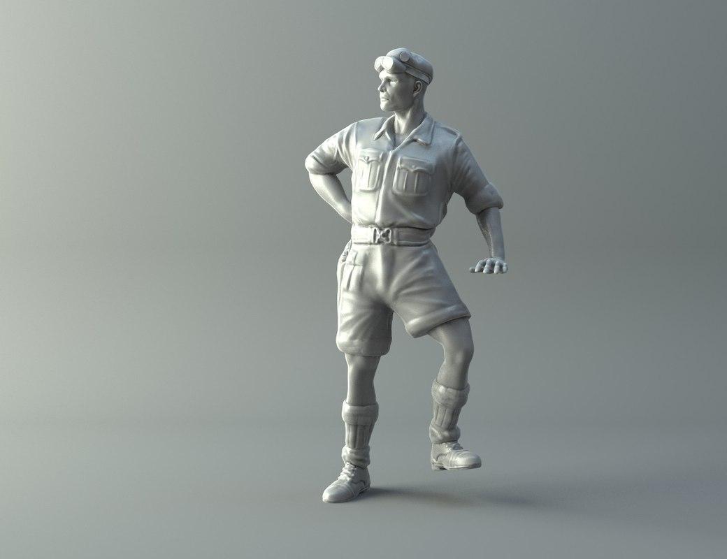 3D captain miniature ii world war model