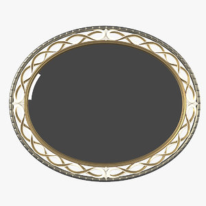 signorini coco oval mirror 3D model