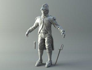 naval captain print modelling 3D model