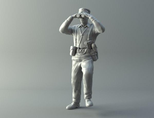 general miniature ii world war 3D model
