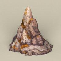 ready stone rock 3D model