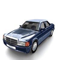 mercedes 190e 3D model