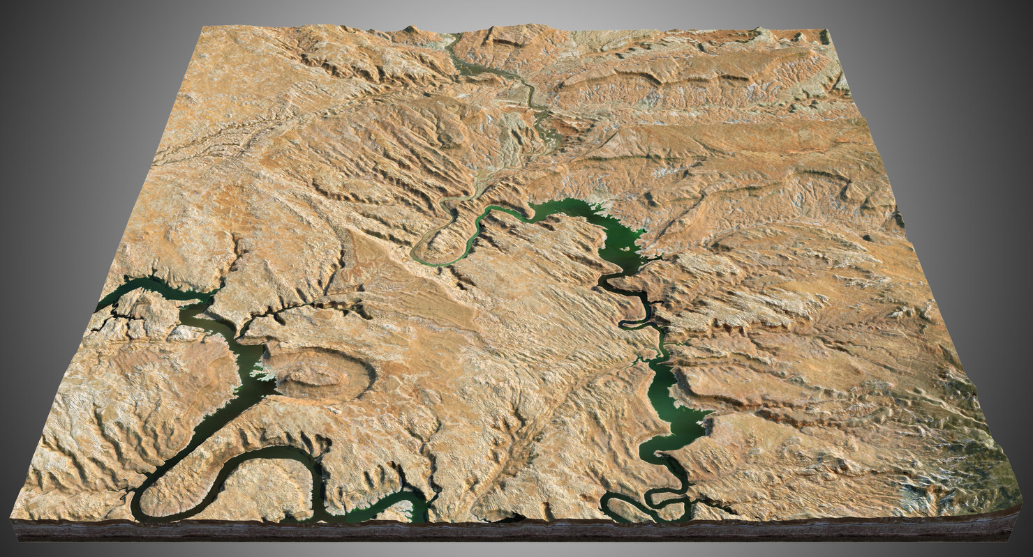 canyons terrain 3D