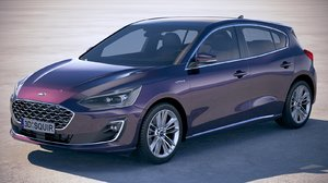 focus hatchback vignale 3D model