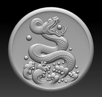 stl snake 3D model