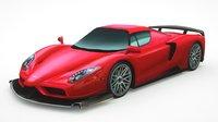 3D model generic supercars car