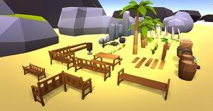 beach island 3D model