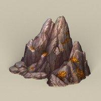 3D ready stone rock model