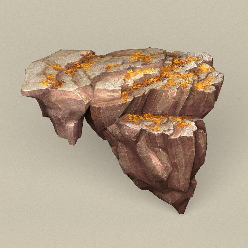 3D model ready stone rock