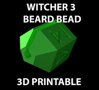 witcher 3 beard bead 3D model
