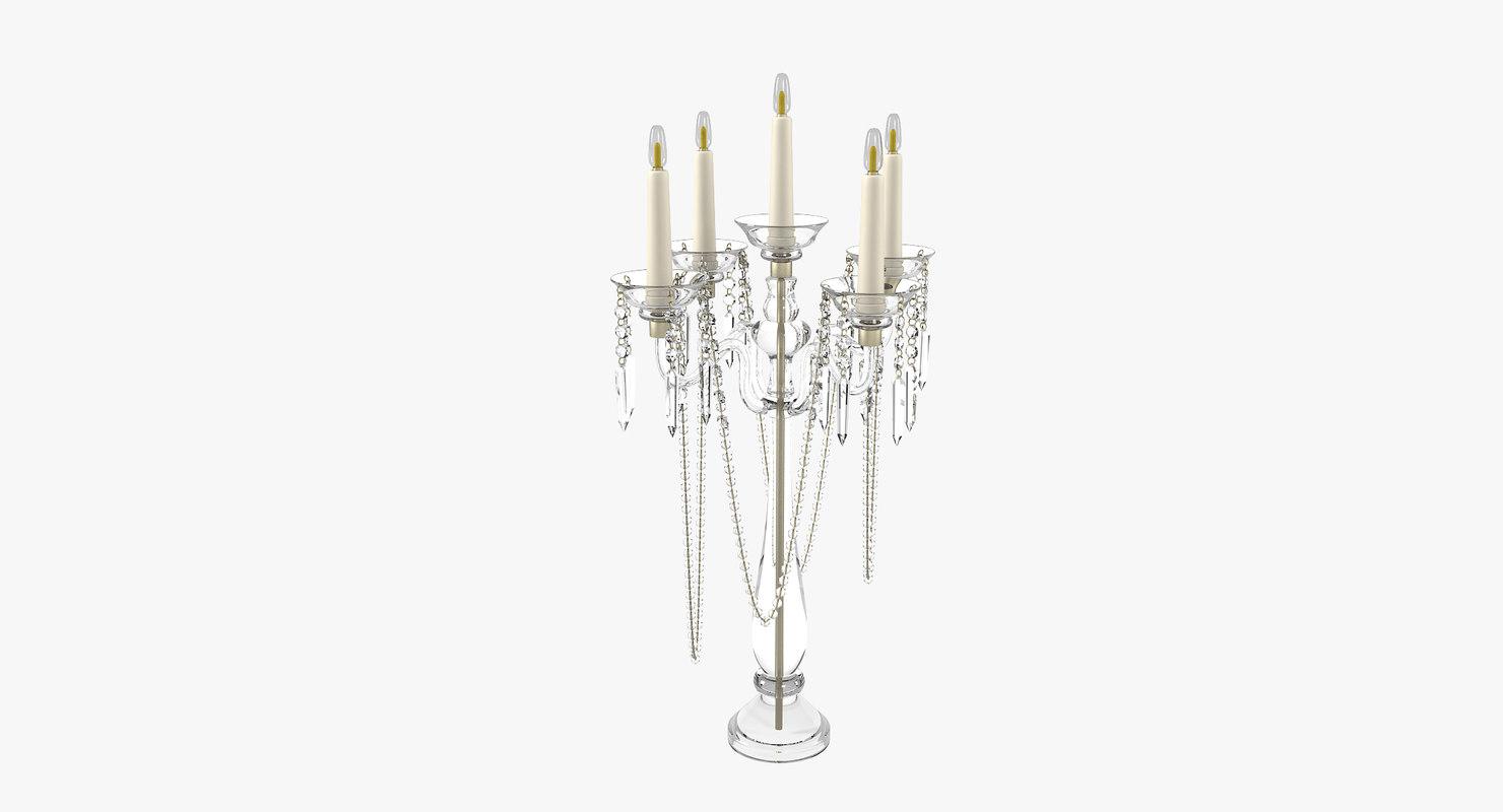 candle holder crystal 3D model