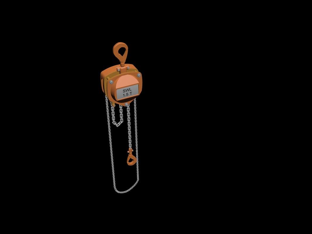 3D model chain block