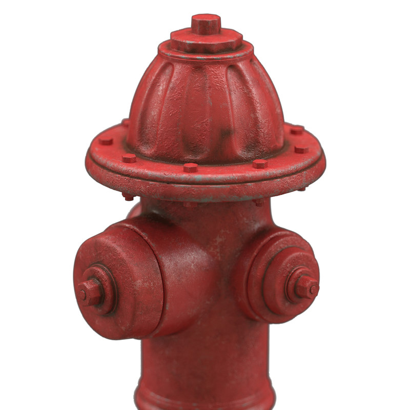 3D hydrant modeled
