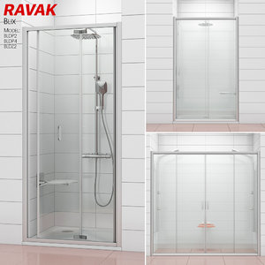 3D model shower doors ravak blix