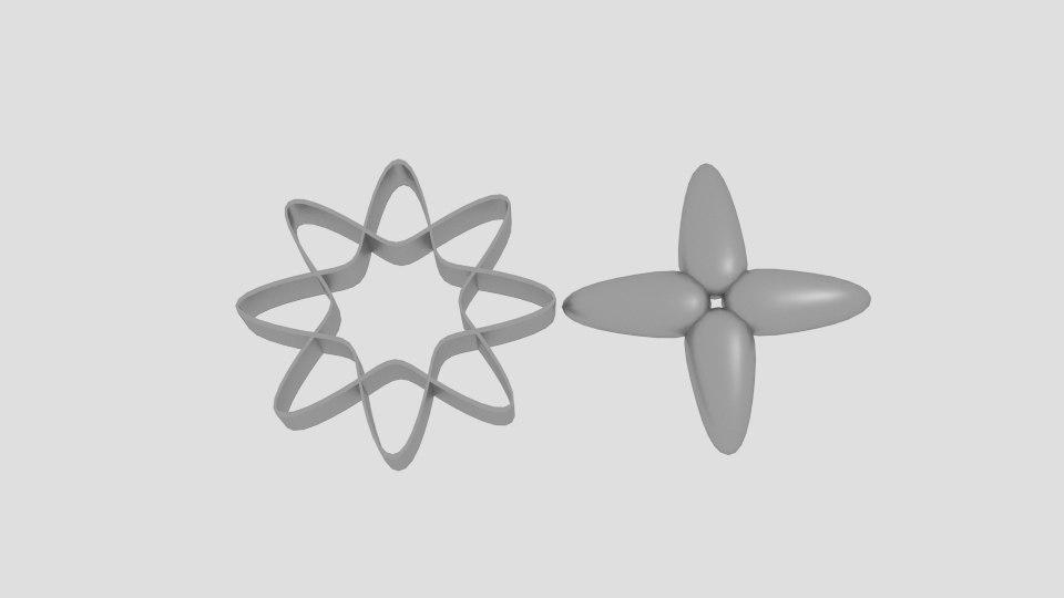 flower cookie mold cutter 3D