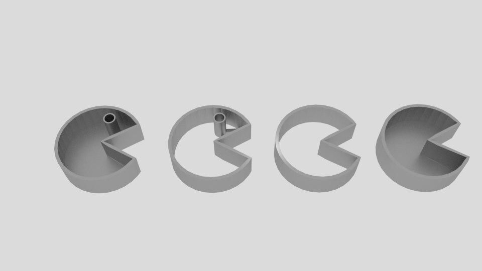 3D pacman cookie mold cutter
