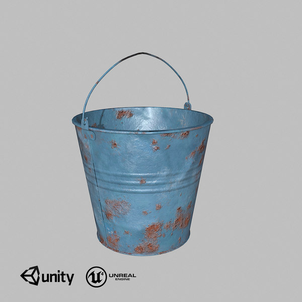 3D bucket low-poly