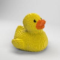 voxel rubber duck 3D model