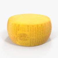 3D parmesan cheese wheel