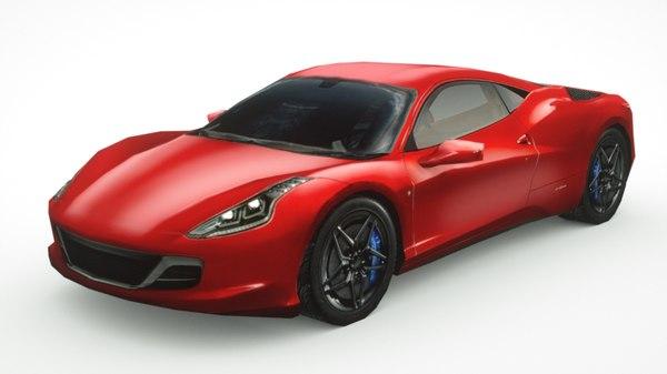 3D generic sportcar supercars car