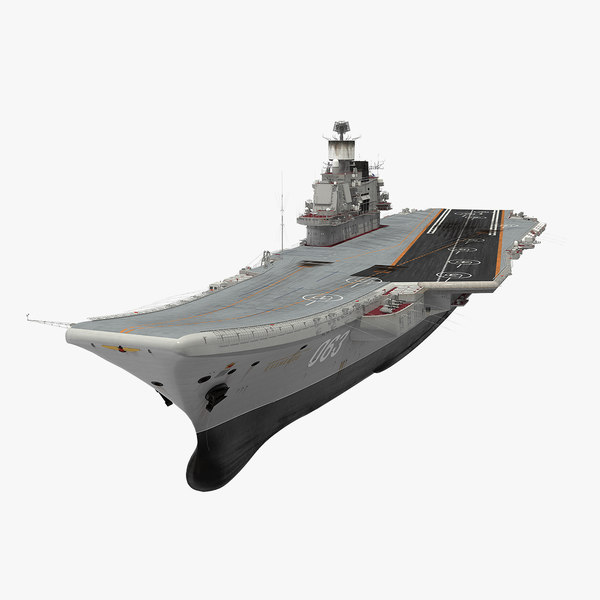 russian aircraft carrier admiral 3D model