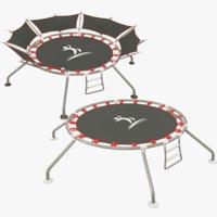 trampolines modelled 3D