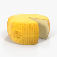 3D model wheel parmesan cheese piece