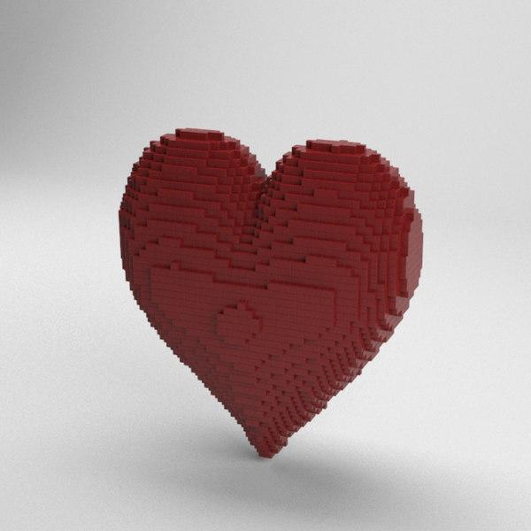 3D voxel heart model