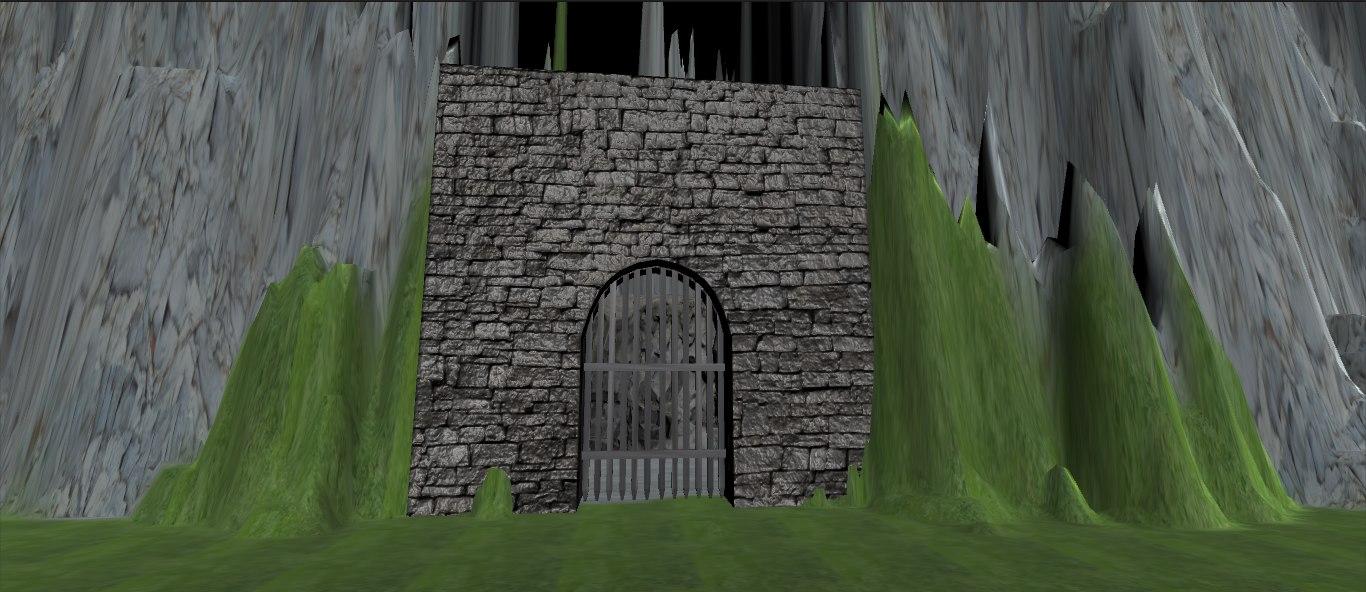 gates portcullis castle 3D model