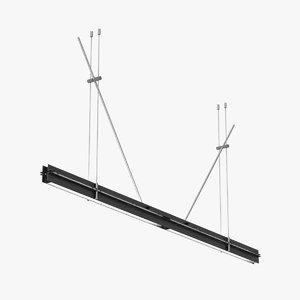 lamp light tecnica suspended 3D model