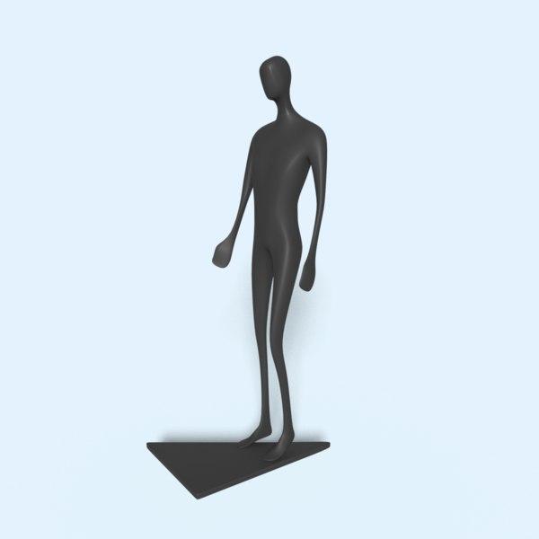 man statue 3D model