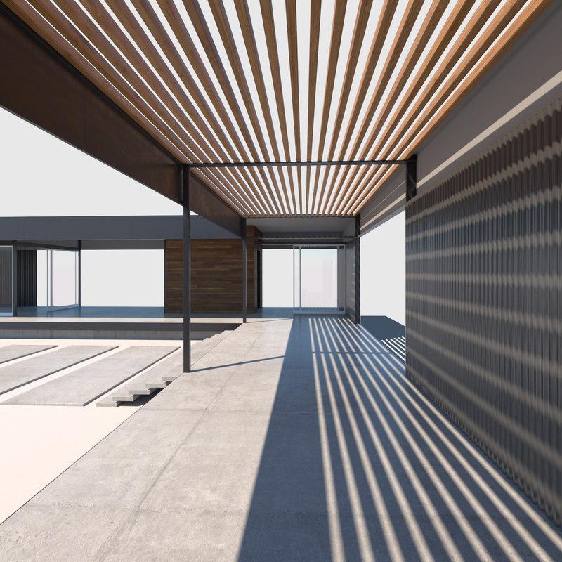 modern prefab house 3D