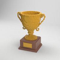 Voxel Golden Cup