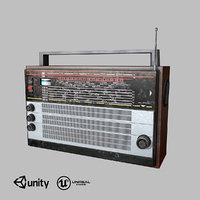 Old USSR Radio low-poly