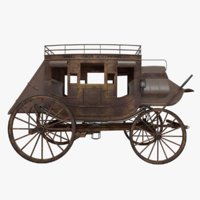 3D stagecoach model