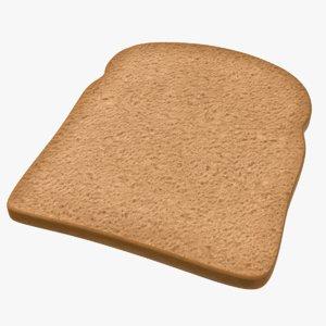 diet brown toast 3D