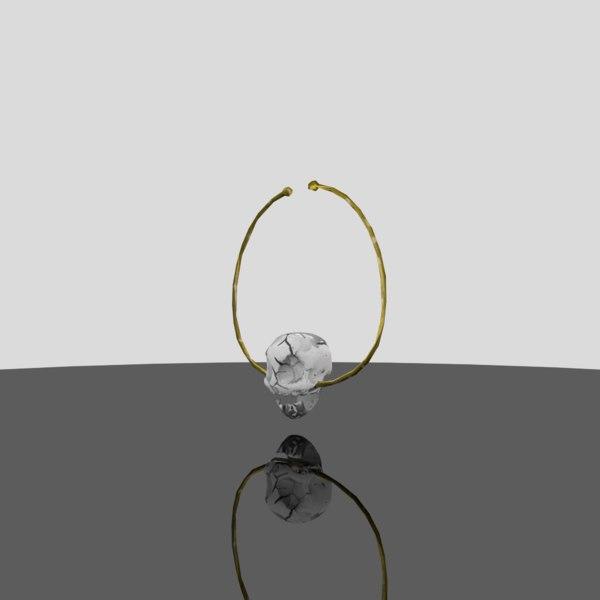 3D necklace skull