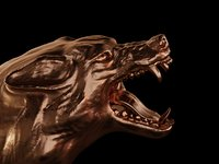 3D head wolf