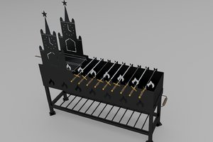 grill bbq barbeque 3D model
