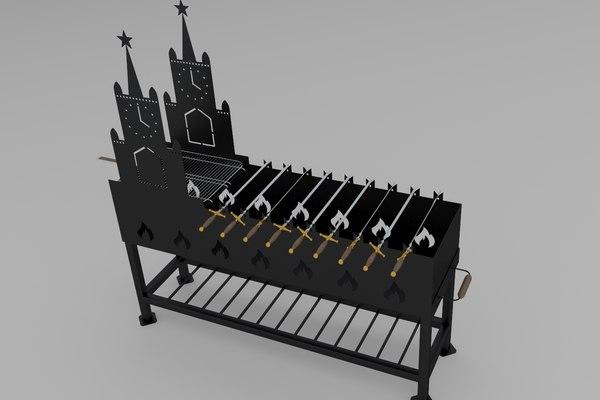 grill bbq barbeque 3D model